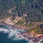 oregon, coast, aerial, yachats